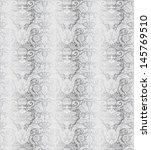 vintage silver seamless pattern ...   Shutterstock .eps vector #145769510
