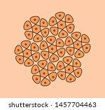 traditional indian rangoli...   Shutterstock .eps vector #1457704463