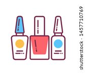 nail polishes color line icon....