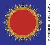 arabic floral frame.... | Shutterstock .eps vector #1457716340