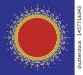 arabic floral frame.... | Shutterstock .eps vector #1457716343