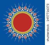 arabic floral frame.... | Shutterstock .eps vector #1457716373