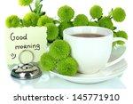 beautiful green chrysanthemum... | Shutterstock . vector #145771910