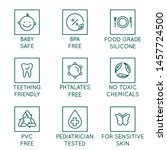 vector set of design elements ... | Shutterstock .eps vector #1457724500