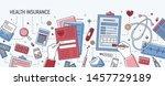 horizontal banner with hands...   Shutterstock . vector #1457729189