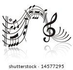 music note. | Shutterstock . vector #14577295