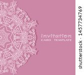 invitation or card template... | Shutterstock .eps vector #1457734769