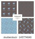 set of four seamless vintage...   Shutterstock .eps vector #145774040