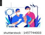 medical insurance template  ... | Shutterstock .eps vector #1457744003