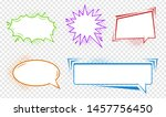 pack of detailed empty comic... | Shutterstock .eps vector #1457756450
