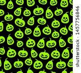 seamless halloween green... | Shutterstock .eps vector #1457756846