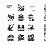 vietnam line icon set 2.... | Shutterstock .eps vector #1457763500