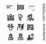thailand line icon set 1.... | Shutterstock .eps vector #1457763506