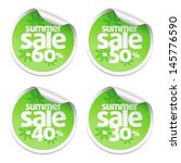set of green sale stickers | Shutterstock .eps vector #145776590