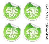 set of green sale stickers | Shutterstock .eps vector #145776590