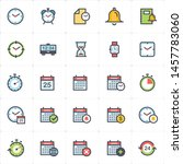icon set   time and schedule... | Shutterstock .eps vector #1457783060