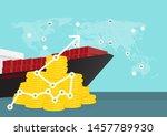 logistics and transportation of ... | Shutterstock .eps vector #1457789930