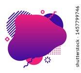 liquid background template.... | Shutterstock . vector #1457799746