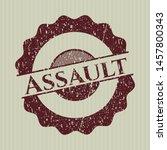 red assault distress grunge seal | Shutterstock .eps vector #1457800343