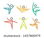 set of sports and dancing icons ... | Shutterstock .eps vector #1457800979