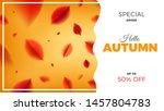 autumn sale banner background... | Shutterstock .eps vector #1457804783