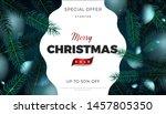 merry christmas sale banner ... | Shutterstock .eps vector #1457805350