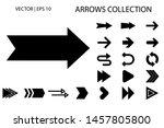 arrow vector icon set. isolated ... | Shutterstock .eps vector #1457805800
