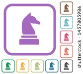black chess knight simple icons ... | Shutterstock .eps vector #1457805986