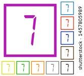 digital number seven of seven... | Shutterstock .eps vector #1457805989