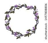 gentle and elegant wreath.... | Shutterstock .eps vector #1457808806