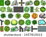 collection of outdoor nature... | Shutterstock .eps vector #1457815013