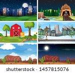 set of outdoor nature scenes... | Shutterstock .eps vector #1457815076