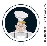 background. cartoon character... | Shutterstock .eps vector #1457816840