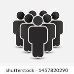 people icon in trendy flat... | Shutterstock .eps vector #1457820290