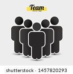 people icon in trendy flat... | Shutterstock .eps vector #1457820293