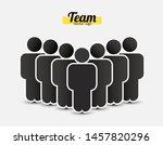 people icon in trendy flat... | Shutterstock .eps vector #1457820296