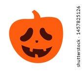 cute halloween pumpkin.... | Shutterstock .eps vector #1457825126