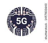 5g network concept. 5g...   Shutterstock .eps vector #1457833643