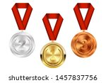 champion gold  silver and... | Shutterstock .eps vector #1457837756