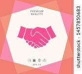 handshake symbol icon. graphic... | Shutterstock .eps vector #1457850683