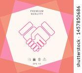 handshake symbol icon. graphic... | Shutterstock .eps vector #1457850686