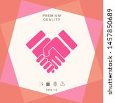 handshake stylized symbol.... | Shutterstock .eps vector #1457850689