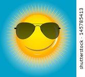 happy sun  background ... | Shutterstock . vector #145785413