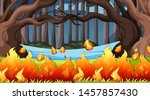 natural environment scenes... | Shutterstock .eps vector #1457857430