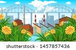 nature scene landscape template ... | Shutterstock .eps vector #1457857436