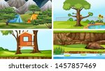 set of scenes in nature setting ... | Shutterstock .eps vector #1457857469