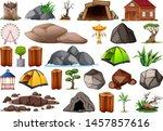 collection of outdoor nature... | Shutterstock .eps vector #1457857616