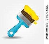 paint brush icon  illustration | Shutterstock . vector #145785803