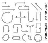 black simple arrows. web icons. ... | Shutterstock .eps vector #1457859200
