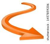orange arrow. shiny 3d icon.... | Shutterstock .eps vector #1457859206